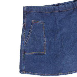 Stain Repellent Indigo Denim Divided Skirt