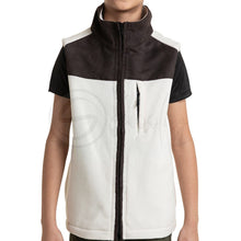 Load image into Gallery viewer, Polar English Fleece Bomber Vest Beige & Brown