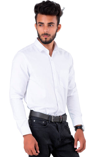 Full Sleeve White Casual Shirt