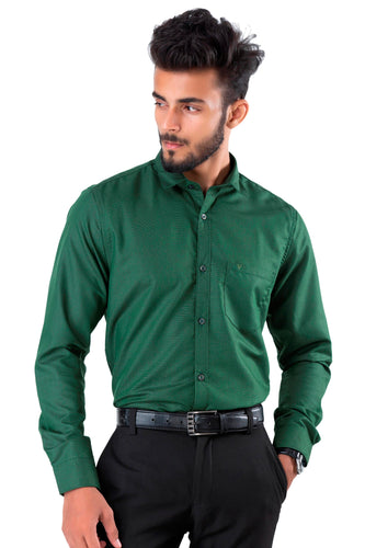 Full Sleeve Green Casual Shirt