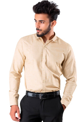 Full Sleeve Beige Casual Shirt