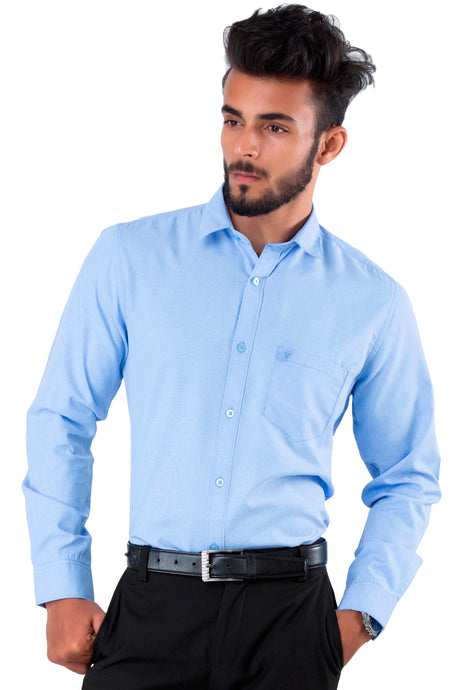 Full Sleeve royal Blue Casual Shirt