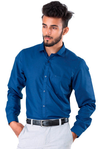 Full Sleeve Navy Blue Casual Shirt