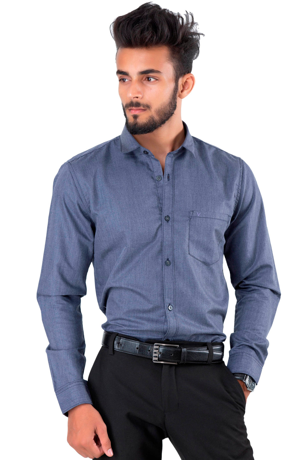 Full Sleeve Charcoal Casual Shirt
