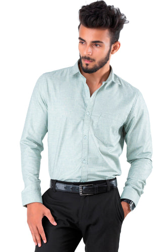 Full Sleeve Bottle Green Casual Shirt