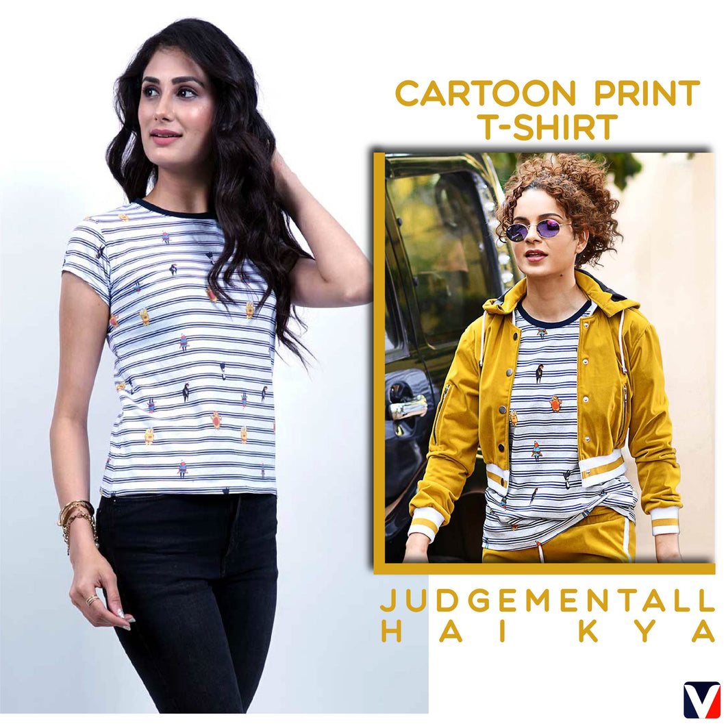 Bollywoo- JUDGEMENTALL HAI KYA Cartoon print t-shirt