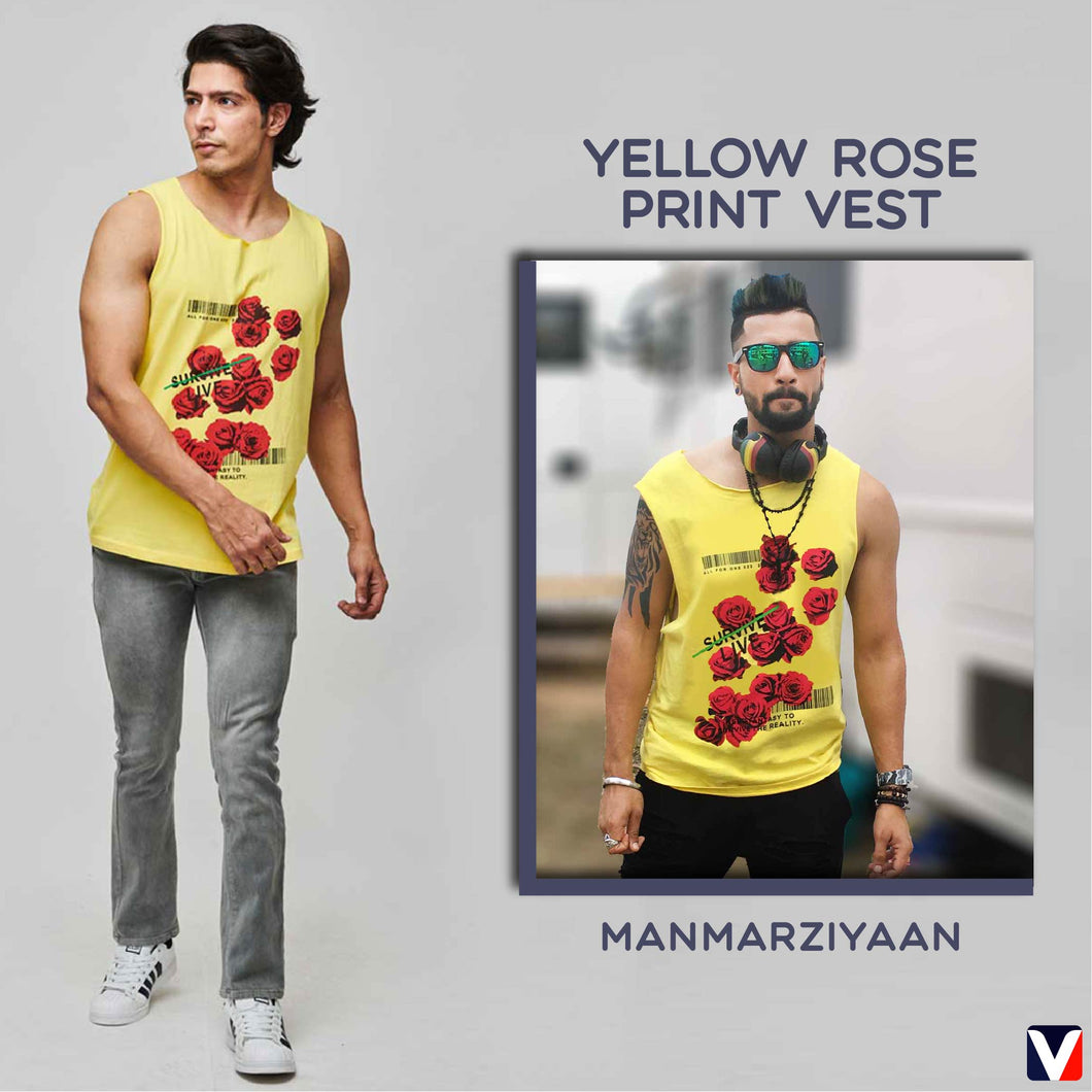 Bollywoo- MANMARZIYAAN Yellow Rose Print Vest