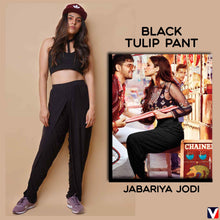 Load image into Gallery viewer, Bollywoo- JABARIYA JODI Black Tulip Pant