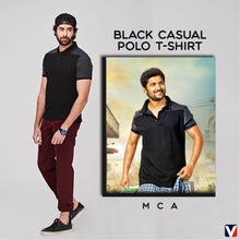 Load image into Gallery viewer, Bollywoo-MCA Black Casual Polo T-shirt