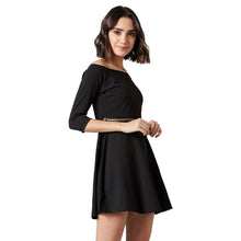 Load image into Gallery viewer, Elegant Eve Black Dress