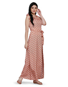 Parisian Streets Pink Polka Dress