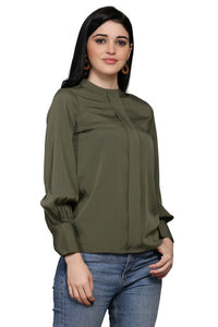 Olive Green Graceful Top