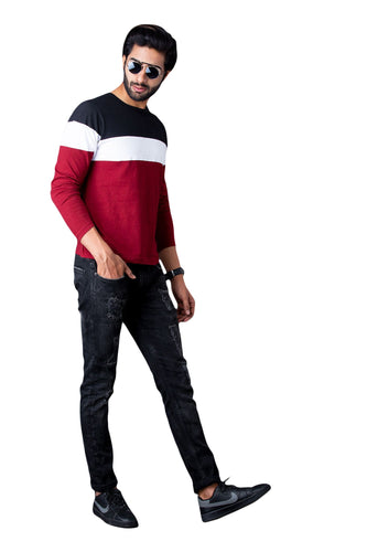 Color Block Full Sleeve T-Shirt