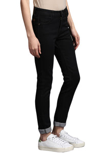 Black Slim Fit Mid Rise women's Stretch Jeans
