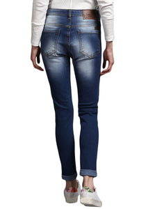 classic Blue Skinny Fit Mid Rise women's Stretch Jeans