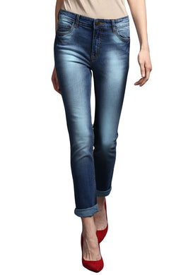 classic Blue Slim Fit Mid Rise women's Stretch Jeans