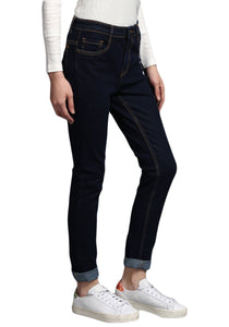 dark Blue Skinny Fit Mid Rise women's Stretch Jeans