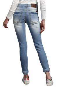 light Blue Skinny Fit Low Rise women's Stretch Jeans