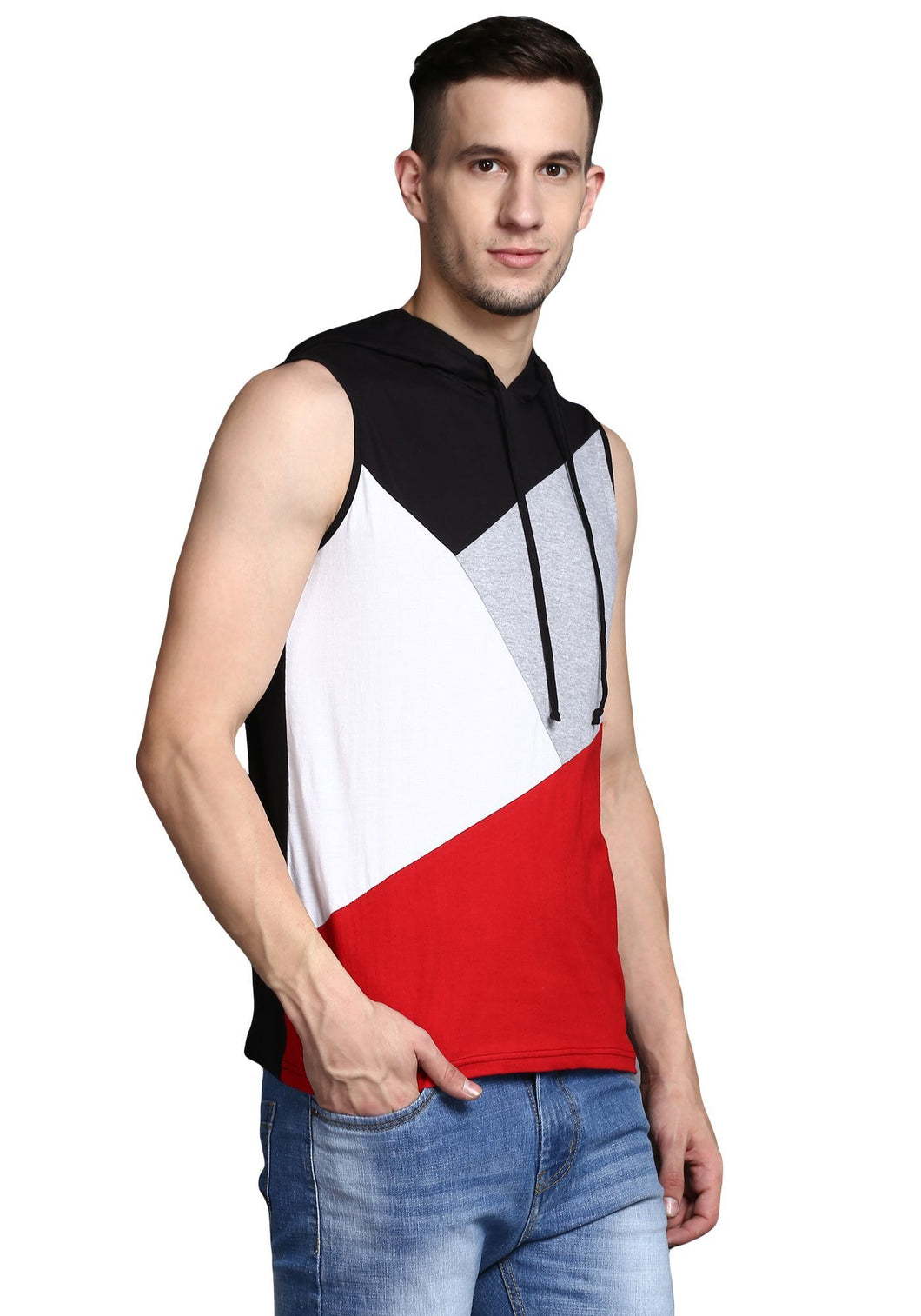 sleeveless hooded Tee