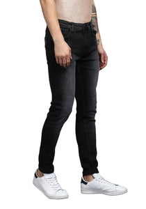Black Skinny Fit Mid Rise Men's Stretch Jeans
