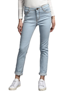 whiteish Blue Slim Fit Mid Rise women's Stretch Jeans