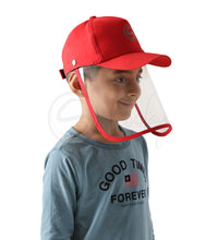 Load image into Gallery viewer, Schoolay Defenders- Red Classic Detachable Cap shield
