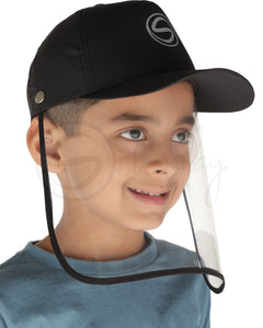 Voonik Defenders-Panther Black Sporty Detachable Cap shield
