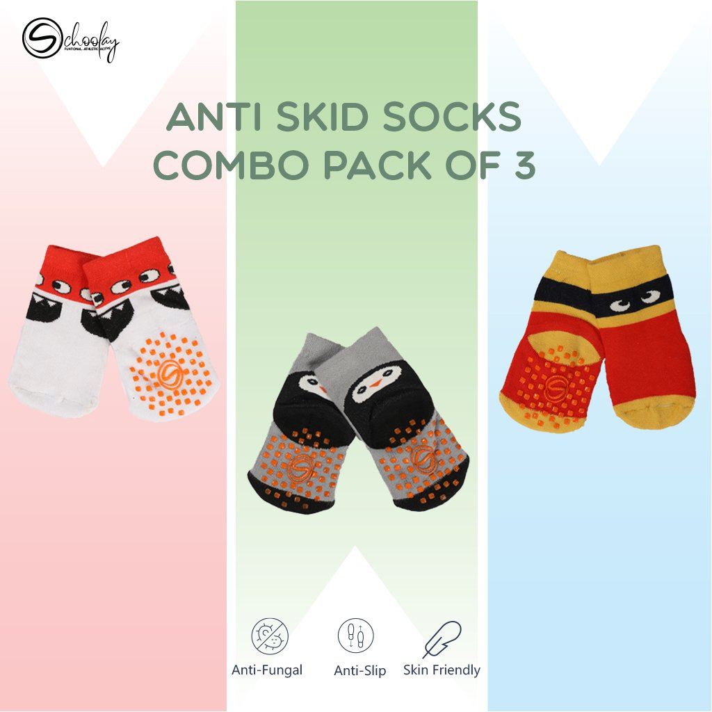 Anti-Slip Grips Infant Socks combo 2