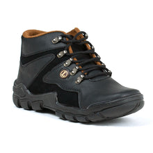 Load image into Gallery viewer, Men's Dark Brown Black Trekking Boots Shoes