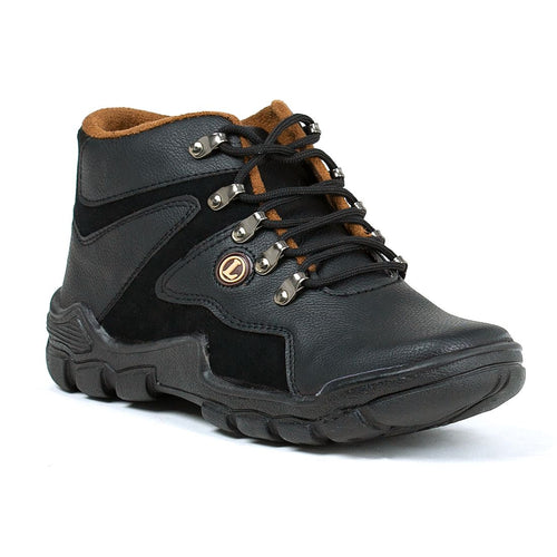 Men's Dark Brown Black Trekking Boots Shoes