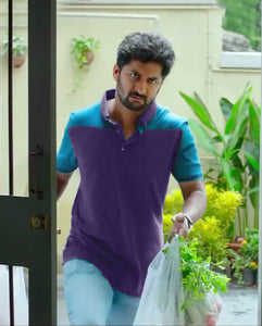 Bollywoo- MCA Purple Casual Polo T-shirt