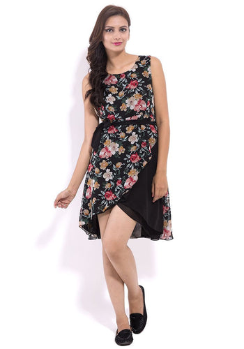 Floral Sleeveless Georgette Dress