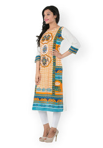 Grey placement print Kurti