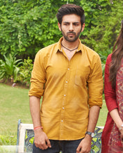 Load image into Gallery viewer, Bollywoo- LUKA CHUPPI Mustard yellow shirt