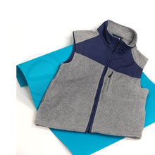 Load image into Gallery viewer, Polar English Fleece Bomber Vest - Light Grey & Blue
