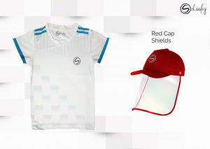 All Day Wear White Tee & Cap Shield Combo