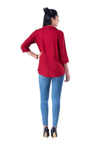 Maroon 3/4th sleeve shirt