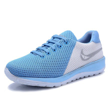 Load image into Gallery viewer, Men's Blue Mesh Running Sport Shoes