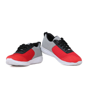 Men's Red and Grey Sports shoes