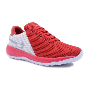 Men's Red Mesh Running Sport Shoes