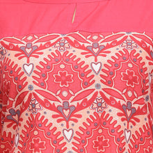 Load image into Gallery viewer, Red printed straight 3/4th sleeve kurti