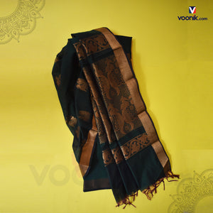 Ramagreen Fancy Peacock Design Saree