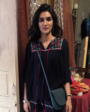 Load image into Gallery viewer, Bollywoo- LUKA CHUPPI Black Embroidered Top