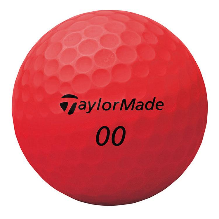 TAYLORMADE PROJECT S MATTE RED GOLF BALLS 12PK TAYLORMADE BALLS TAYLORMADE