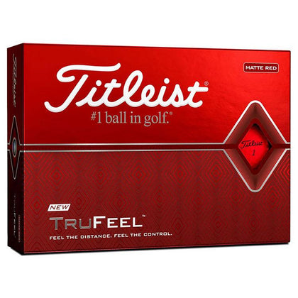 TITLEIST TRU FEEL MATTE RED GOLF BALLS 12PK TITLEIST BALLS TITLEIST