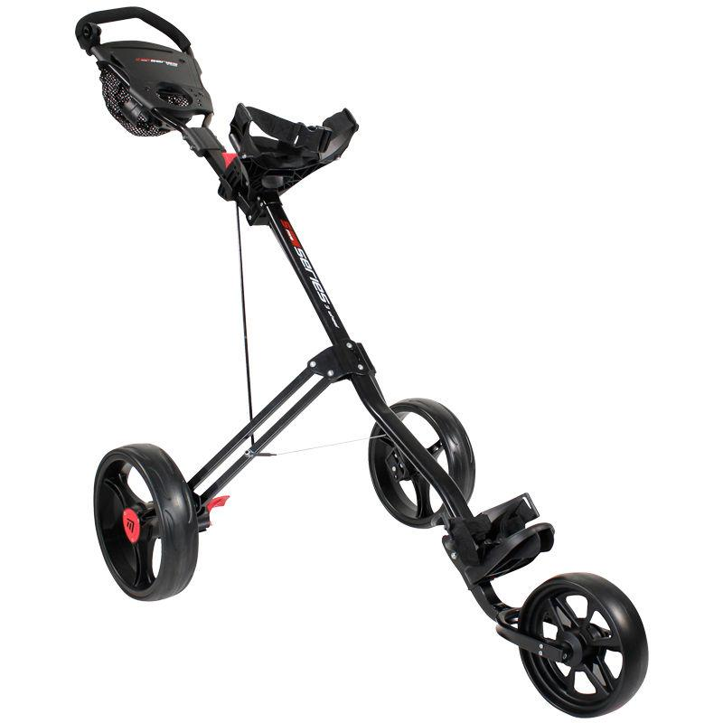 MASTERS 5 SERIES 3 WHEEL GOLF TROLLEY 3 WHEEL PUSH TROLLEYS MASTERS