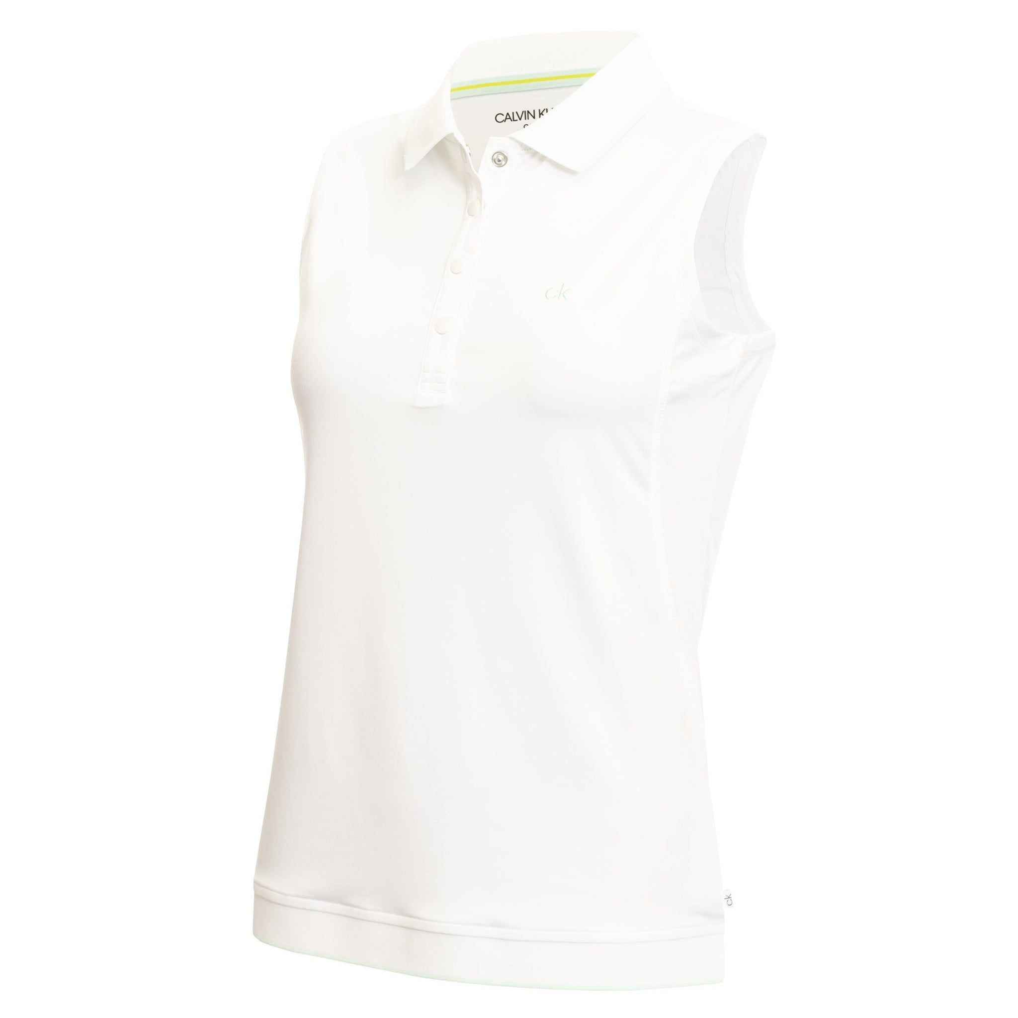 CALVIN KLEIN SOLANA S/LESS GOLF POLO SHIRT CK LADIES POLOS CALVIN KLEIN