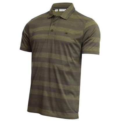 CALVIN KLEIN SHADOW STRIPE GOLF POLO SHIRT CK MENS POLOS CALVIN KLEIN