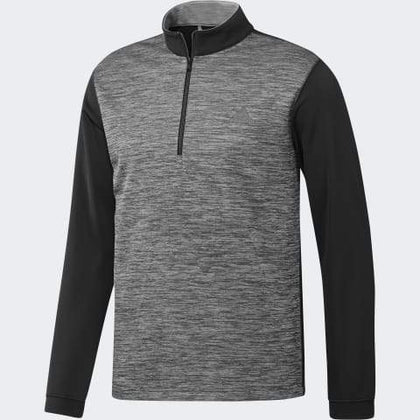 ADIDAS CORE HEATHER 1/4 ZIP GOLF SWEATER ADIDAS MENS MID LAYER ADIDAS