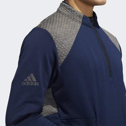 ADIDAS COLD.RDY QUARTER-ZIP GOLF JACKET ADIDAS MENS MID LAYER ADIDAS
